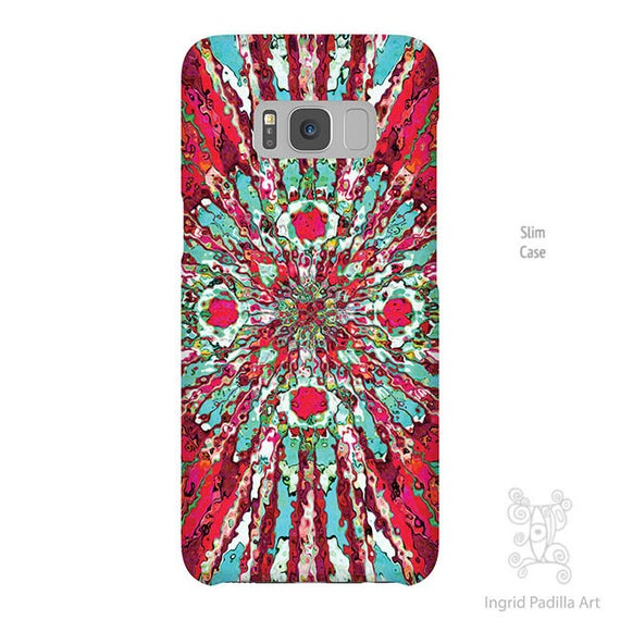 Hippie chic, art, Galaxy S8 case, Galaxy S8 Plus case, Note 8 Case, iPhone 8 case, Galaxy S9 Case, Red phone case, phone cases, S9 plus case