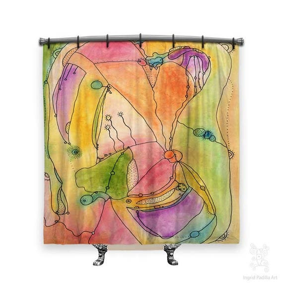 Serendipity Colorful Shower Curtain Artsy