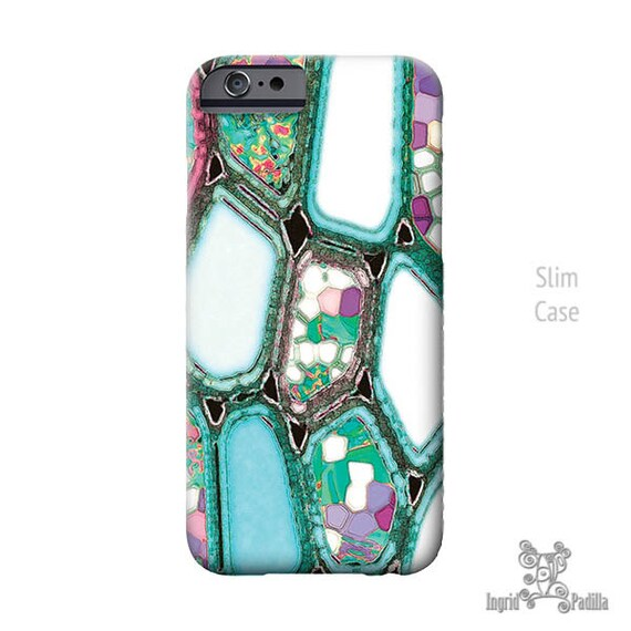 iPhone 7 case, Geometric, iPhone 7 plus case, iPhone Xs case, iPhone 8 plus case, Cells, Turquoise Blue, Art, iphone 8 case, iPhone X Case