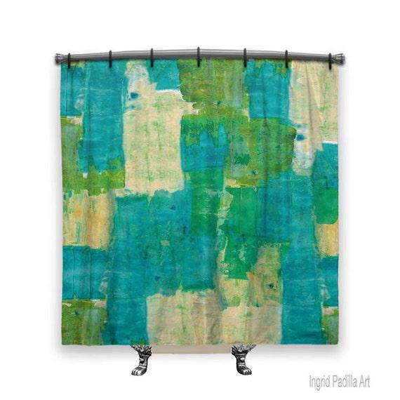 Turquoise Shower Curtain, Boho, Blue Shower curtain, shower curtain, Abstract shower curtain, Fabric shower curtain, Bath Decor, Decor