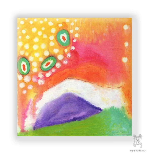 "Gracie - 12"" x 12"" Original abstract Painting on Canvas"
