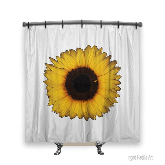 Sunflower Shower Curtain, Shower curtain, sunflower, Big flowers, shower curtains, Fabric shower curtain, floral shower curtain, fall decor
