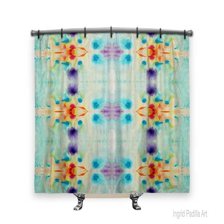 BOHO Shower Curtain Artsy Bohemian Art Fabric Bath Decor