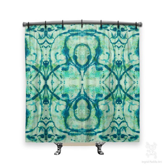 BOHO Shower Curtain, Hippie Shower Curtain, Blue Shower curtain, shower curtain, shower curtains, Fabric shower curtain, Bathroom Art, blues