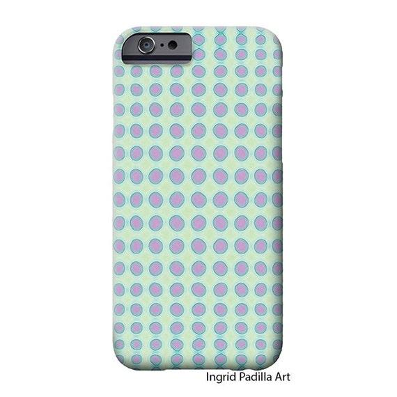 Purple Polka Dots, Mint, iphone 8 case, iPhone 8 Plus case, iPhone 7 case, Circle,  Art on iPhone cases, iPhone 7 case, iPhone X Case