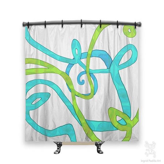 Abstract shower curtain, Shower Curtain, Shower curtains, bathroom art, fabric shower curtain, shower curtain art, Artsy shower curtain, art