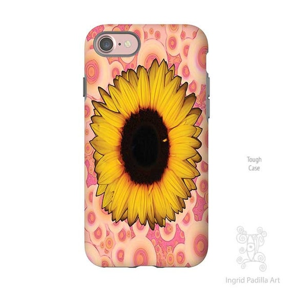Sunflower Phone case, iPhone 8 case, iphone 8 plus case, iPhone 7 plus Case, iphone 7 case, iPhone X case, S8 Plus case, Galaxy S8 Case, art