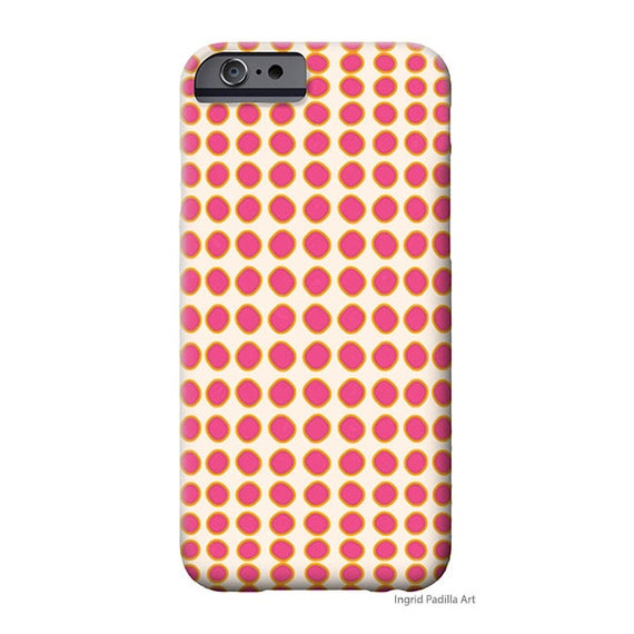 Pink Polka Dot, iPhone 7 case, iphone 8 case, iPhone 8 Plus case, iPhone 7 plus case, Art on iPhone cases, Galaxy S9 Case, iPhone X Case