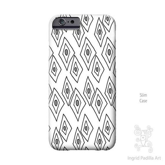 Geometric phone case, iPhone 7 Case, Galaxy S9 Case, black and white Art, iPhone Xs case, iPhone Case, iPhone X Case, iPhone 8 plus case