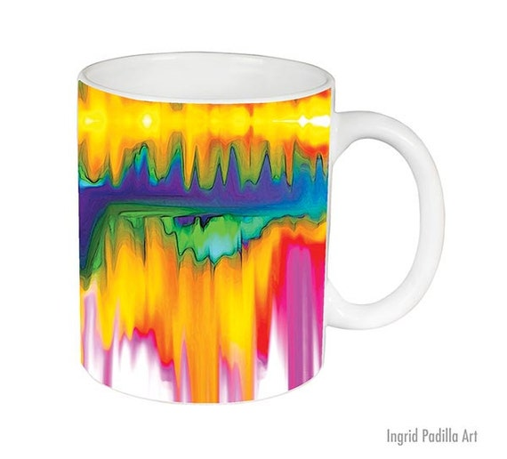 Abstract art Mug, watercolor Mug, print, Unique, Coffee Mug, Funky, mug, coffee cup, Art, Ingrid Padilla