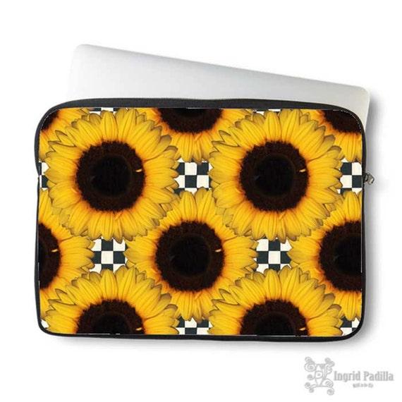 Sunflowers, Laptop Sleeve, Laptop bag, laptop case, neoprene, sleeve for computer, Macbook case, Laptop Cover, Sunflower, Art on Laptop case