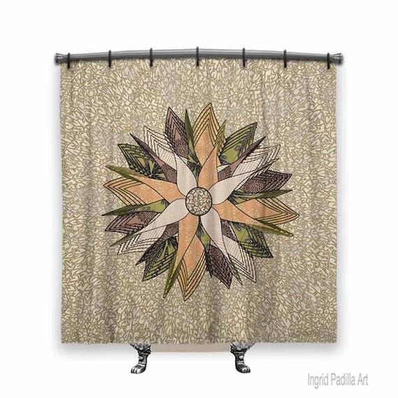Mandala Shower Curtain, Boho Shower curtain, shower curtain, Shower curtains, Fabric shower curtain, Mandala, Bath Decor, Bathroom Art,
