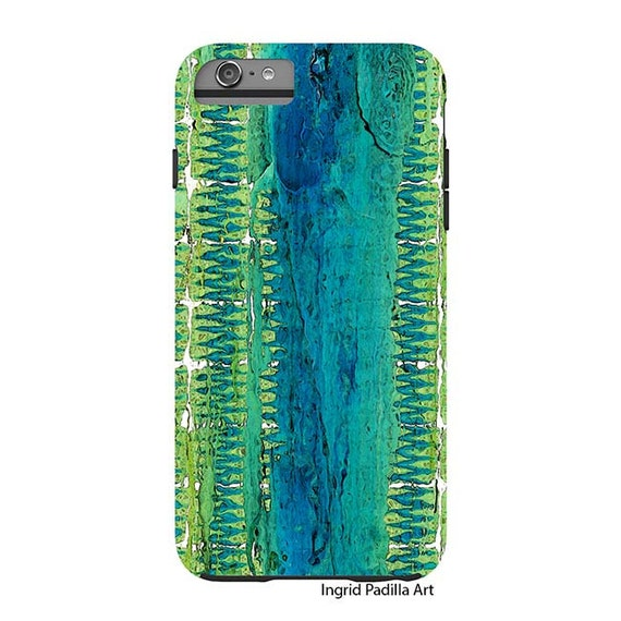 Geometric Blue, iPhone 7 Case, iPhone 6s case, Turquoise, iPhone cover, iPhone 7 plus, iPhone 5S case, iPhone 8 Plus case, Galaxy S7 Case