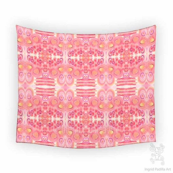 BOHO Wall Tapestry, Tapestry, Pink tapestry, Wall Tapestry, bohemian tapestry, tapestry wall hanging, Wall Tapestry hanging, Art Tapestry