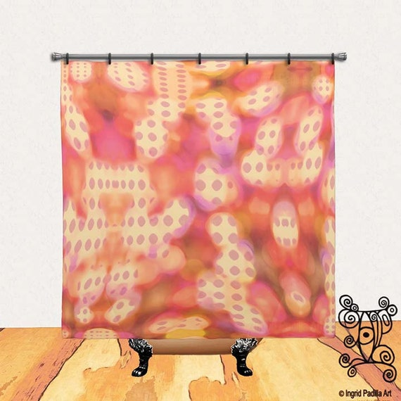 Abstract Shower curtain, Shower Curtain, BOHO Shower curtain, Fabric Shower Curtain, artsy shower curtain, Bathroom Decor, Bathroom Art, Art