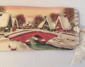 Christmas Village Gift Tag.