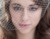 High Fashion Double Bridal Birdcage Wedding Veil