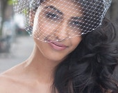 Basic Birdcage Blusher Wedding Veil with Swarovski Crystals