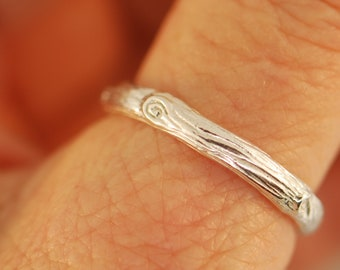 twig band,branch band, twig wedding band, branch wedding band, alternative wedding ring, woman twig band,