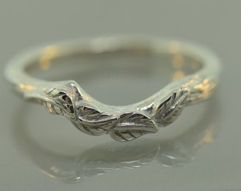 4 leaf band,engagement ring, ring, engagement ring, alternative engagement ring, twig engagement ring, branch ring, leaf band, twig ring