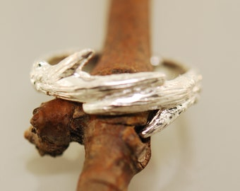 Mans antler wedding band, antler band, Branch Band, twig ring, sterling branch ring, alternative wedding band, manly antler ring