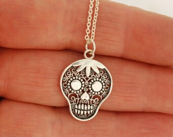 Filigree Day of Dead Skull Necklace
