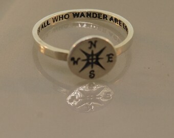 Compass Wander Ring Original Sterling Silver