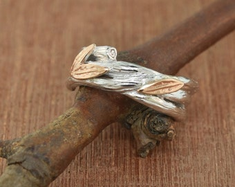 engagement band, Branch Band, wedding band, sterling branch ring, sterling twig ring, alternative wedding band, branch ring