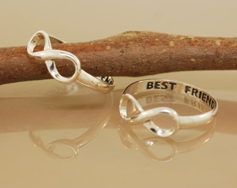 Two Best Friend Rings Original Twist Design