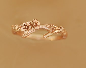 Cherry Branchy Leafy Band, rose gold bands,