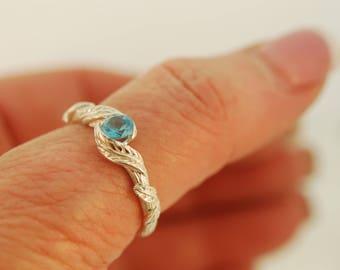 leaf engagement ring, engagement ring, alternative engagement ring, twig engagement ring, branch ring, elvin ring, twig ring