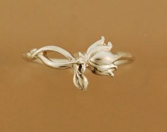 Lotus ring, gold lotus ring, silver lotus ring, rose gold lotus ring, white gold lotus ring