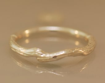 Branch Band, twig band, sterling band, gold twig band, silver twig band, silver branch band, gold branch band, wedding bands,