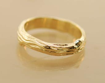 Manly Branch Band,14karat band, branch band, wedding band, gold band, alternative wedding band, twig band, wedding band,