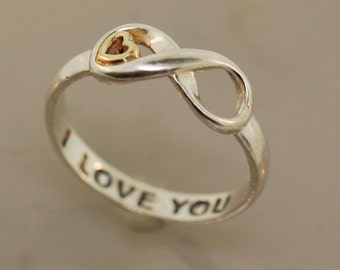 Infinite Love with 14 K Gold Heart