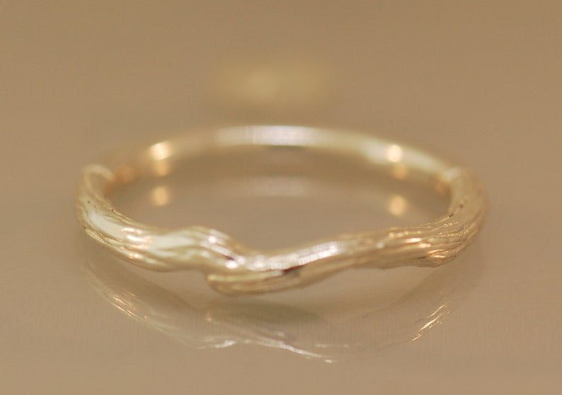 Branch Band twig band sterling band gold twig band silver image 0