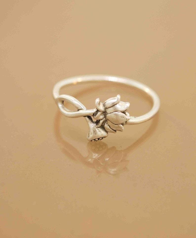 Lotus Blossom Ring Etsy