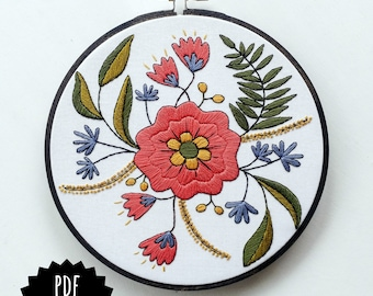 Autumn Mandala Pdf Embroidery Pattern Embroidery Hoop Etsy