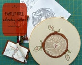 CUSTOM FAMILY TREE - pdf embroidery pattern, personalized embroidery, custom tree stump, custom family tree, gifts for her, cozyblue on etsy