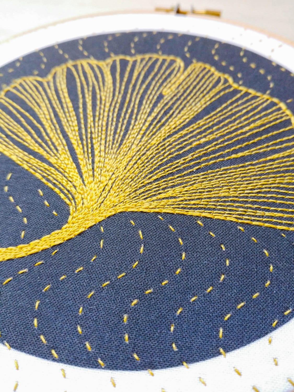 GINKGO - pdf embroidery pattern, embroidery hoop art, ginkgo biloba ...