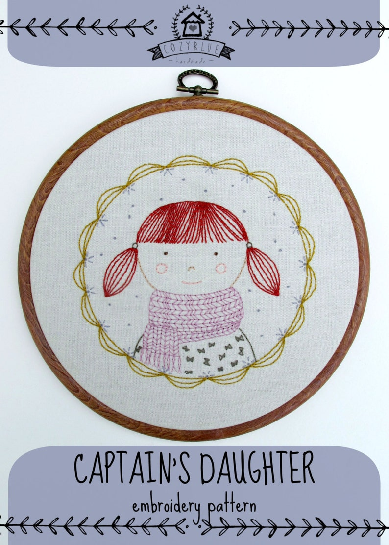 CAPTAIN'S DAUGHTER pdf embroidery pattern girl wearing image 0