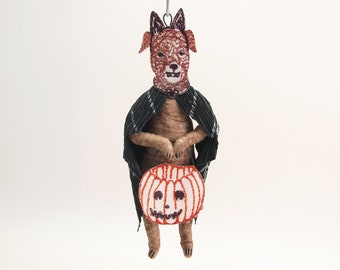 Spun Cotton Halloween Cloaked Dog - In Partnership with Coral & Tusk