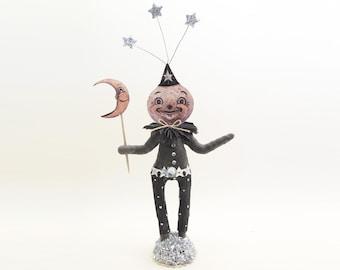 Spun Cotton Halloween Moon Person - In Partnership with Johanna Parker