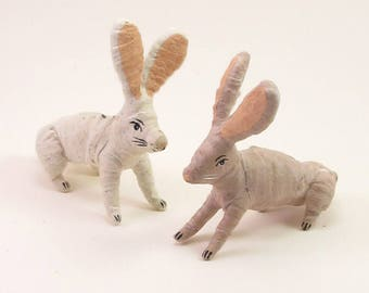 READY TO SHIP Spun Cotton Vintage Inspired Bunny Rabbit Ornament/Figure (Multiple Color Options)