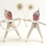 Decorating Winter Sprite Ornament - Vintage Inspired Spun Cotton (READY TO SHIP)