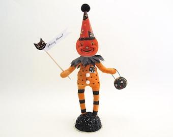 Spun Cotton Halloween Cat Patch Pumpkin Person - In Partnership with Johanna Parker