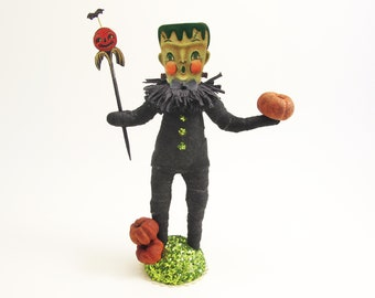 READY TO SHIP - Spun Cotton Halloween Freeky Frankenstein - In Partnership with Johanna Parker