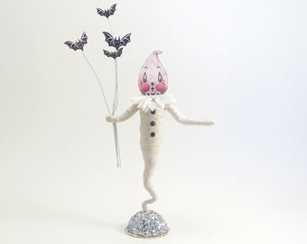 Spun Cotton Halloween Ghostly Ghost - In Partnership with Johanna Parker -