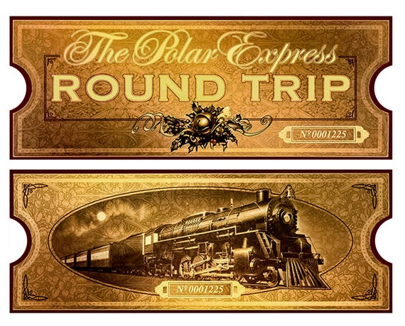 Gratifying image with polar express printable tickets
