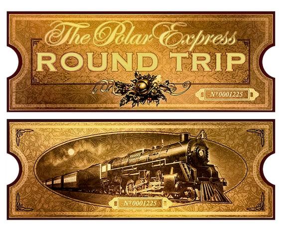 Insane image in polar express train ticket printable